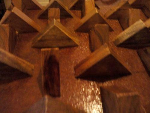 Teak Wood 3D Wall Panel