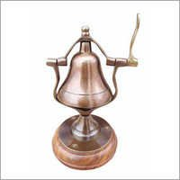 Nautical Desk Bell With Wooden Base