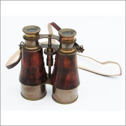 Binoculars Leather Sheathed Antique Brown Finish