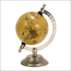 Globe With Nickel Finish Base