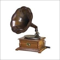 Gramophone Shiny Brass