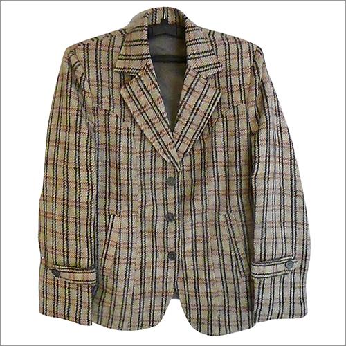 Mens Plaid Coat