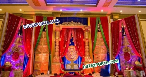 Traditional Indian Wedding Stage Decoration