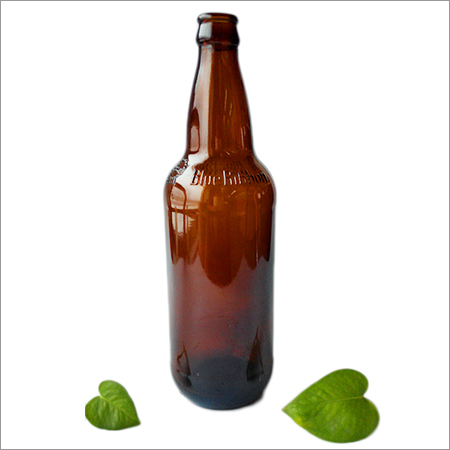 640ml Blue Ribbon Amber Glass Beer Bottle