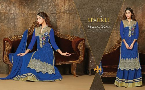 Latest Royal Blue Wholesale Salwar Kameez