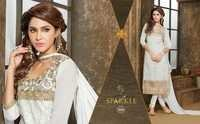 Latest Sparkle Neck Pattern Work Salwar Suits