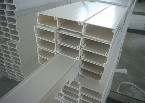 White Pvc Electrical Cable Trays