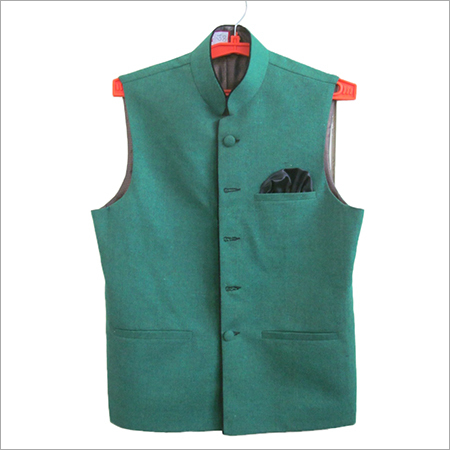 Green Nehru Jacket