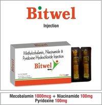 Mecobalamin 1000 mcg. + Niacinamide 100 mg. Pyridoxine 100 mg.