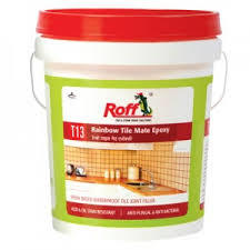 Three-component epoxy resin based ceramic tile joint filler.