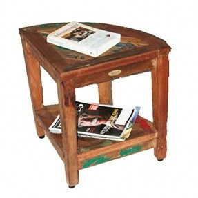 Reclaimed Wooden Corner Table