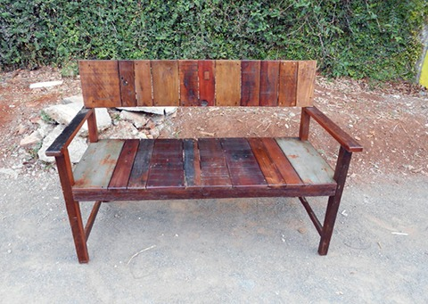 Reclaimed Wood Garden Bench