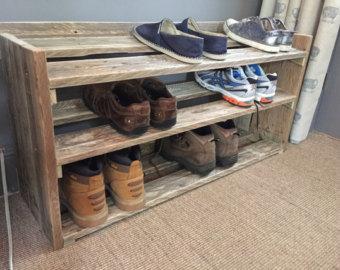 Reclaimed Wood Shoe Eack