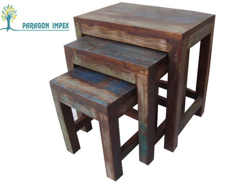 Reclaimed Wood Nest of Table