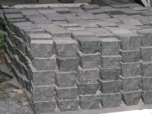 Lime Black Cobble Stone