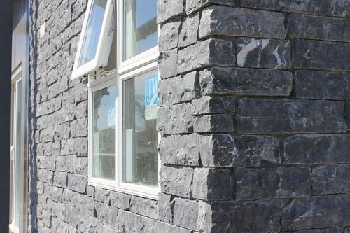 Black Thin Stone Cladding