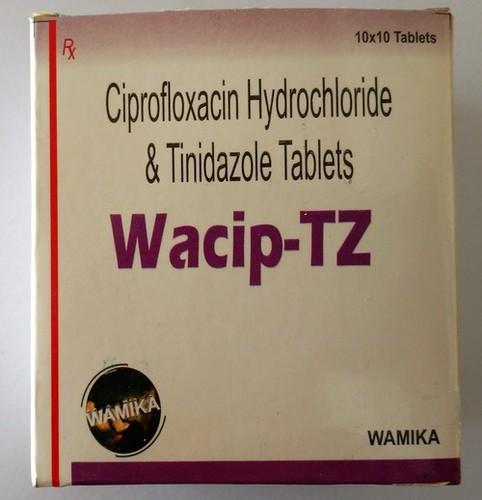 Ciprofloxacin Hydrochloride & tinidazole Tablats