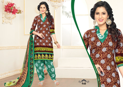 Jannat Unstitched Cotton Suits