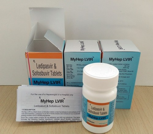 Ledipasvir 90 Mg And Sofosbuvir 400 Mg Tablet