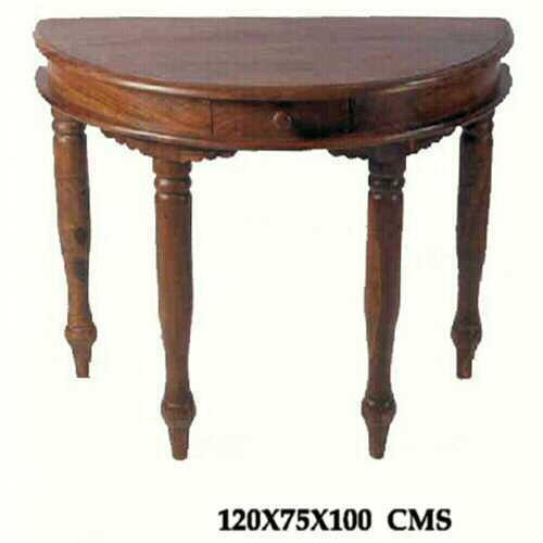 Sheesham Corner Table with Drawer