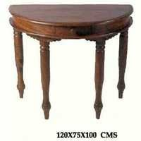 Sheesham Corner Table with Drawer