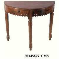 Royal Sheesham corner table with Two Drawer