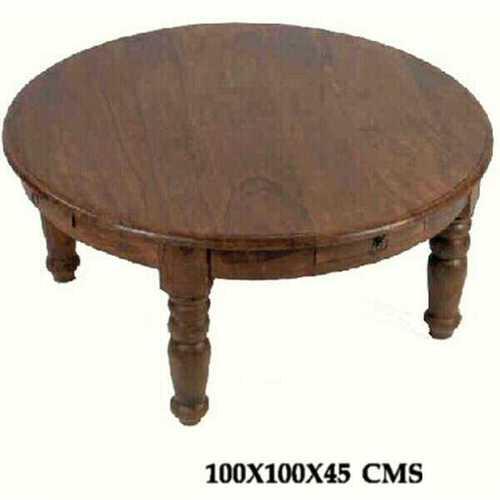 Royal Sheesham Round Table with Drawer