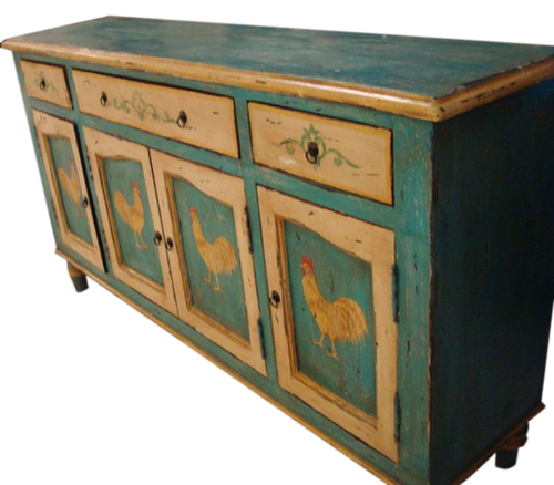 Indian Distressed Wooden Table
