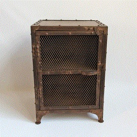 Industrial Iron Mesh Bed Side Cabinet