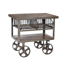Industrial Iron Trolley Cart