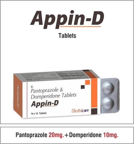 Pantoprazole 20mg.+Domperidone 10mg. Tablets