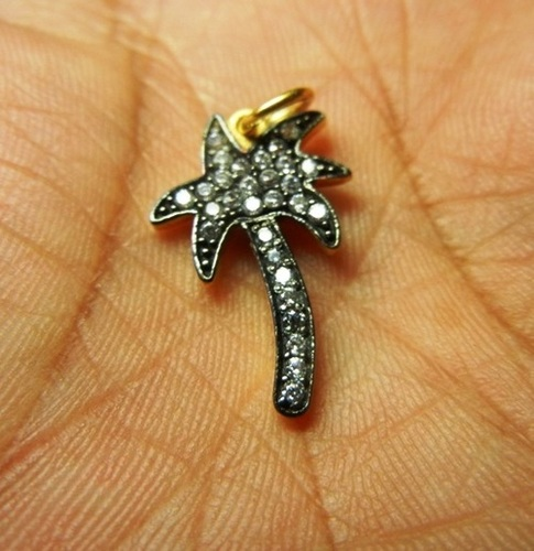 Palm Tree Charm Gemstone Pendant