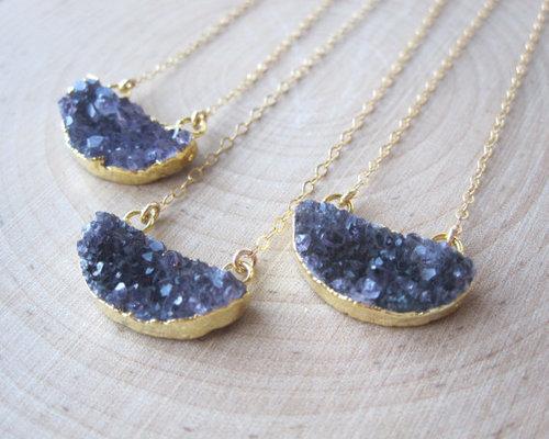 Silver Gemstone Necklace Jewellery