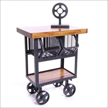 Industrial Corner Table