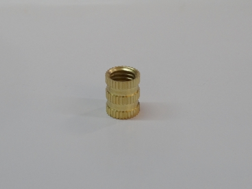 Triple Straight Knurling Brass Inserts