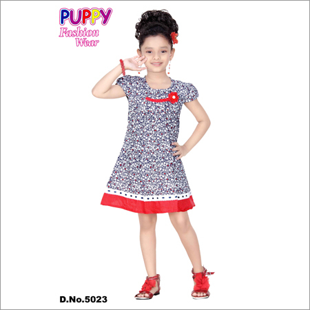 Girls Fancy Cotton Frock