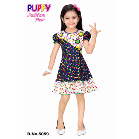 Girls Dotted Frock