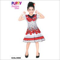 Girls Designer Cotton Frock
