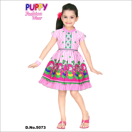 Girls Trendy Cotton Frock