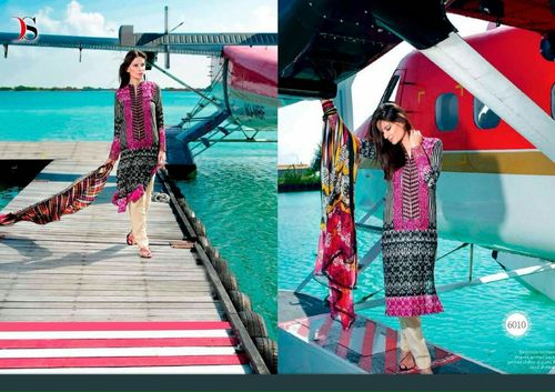 latest designer cotton suits