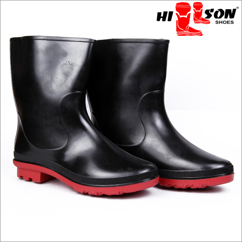 Safety Gumboots Dragon Black-Red