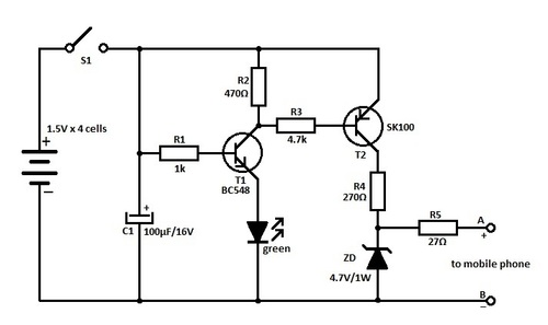 Mobile Charger Circuit