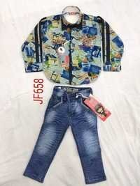 Designer Printed Shirt With Jeans Pant