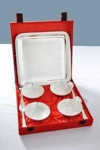 Silver Bowls and Tray Set