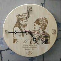 Wooden Anniversary Clock