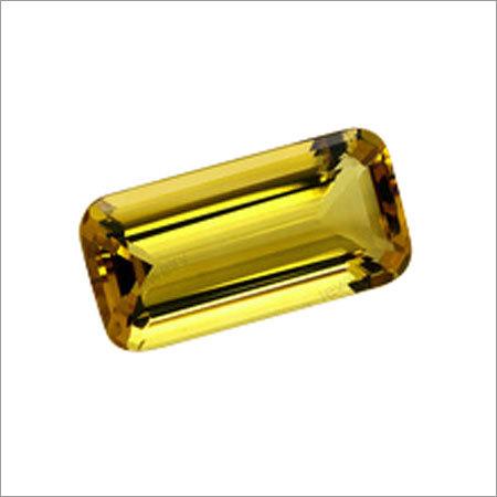 Yellow CZ  Emerald Cut