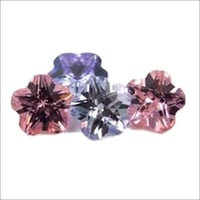Flower Shaped Pink Faceted