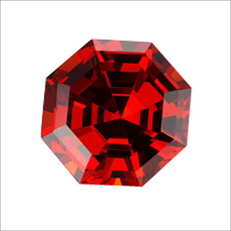 Loose Faceted Red Orange Gemstone