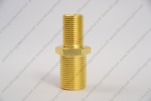 Brass Hexagonal Threaded Nipple