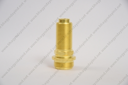 Brass Double Threaded Pipe Fitting